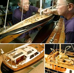Yacht and Sailboat Scale Models: The Art of Masterful Miniatures Scale Models, Luxury Sailing Yachts, Ship In Bottle, Classic Yachts, Wooden Ship, Wood Boats, Boat Stuff, Motor Yacht, Boat Plans