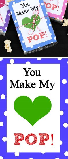 You Make My Heart Pop Valentines Cards | DIY Valentines Cards for Kids to Make | DIY Valentines Ideas for Kids to Make