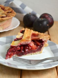 Tarta americana de ciruelas. Plum pie Cheesecake Tarts, Sweet And Salty, Coffee Break, Cooking Time, Healthy Life, Cake Recipes, Sweet Tooth, Food And Drink, Yummy Food