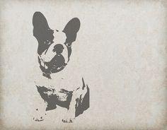 Dog, French Bulldog, Animal, Vintage, Retro, Old