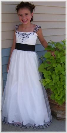 Black, White bridal party dresses