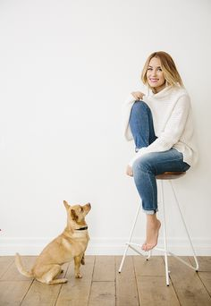 Lauren Conrad looking cute and cozy in this season's hottest sweater
