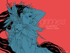 Grimes - Rock Art - Rock en Seine Exhibition by Marguerite Sauvage, via Behance