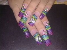 Zebra by VivianasNails from Nail Art Gallery Airbrush Nail Art, Hand Art, Nail Art Galleries, Nails Magazine, Nailart, Projects To Try, Nail Designs, Art Gallery, Hand Painted
