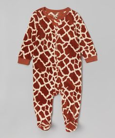 Love this Giraffe Fleece Footie - Infant, Toddler & Kids on #zulily! #zulilyfinds