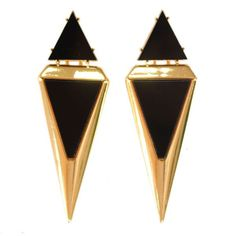 Gold drop earrings for women Black statement earrings fashion earing for women 2015 brincos de festa ouro grandes indian jewelry