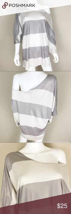 I just added this listing on Poshmark: French Connection L off the Shoulder Top Gray. #shopmycloset #poshmark #fashion #shopping #style #forsale #French Connection #Tops