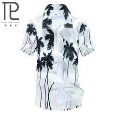 Men's Shirt Casual camisa masculina Printed Beach Shirts Short Sleeve