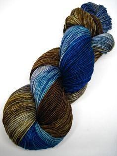 Colorway: The Haunted Wood (OOAK variation) Hand Dyed by Jennifer 80% Superwash Merino Wool / 20% Nylon 400 yards / 100 grams Fingering
