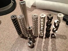 Evolution of SEG Suppressor Baffle. Extensive engineering has gone into designing a suppressor that not only is the quietest but also durable and easy to clean. Designed to keep muzzle blast and flash to a minimum. Available in Aluminum, Stainless, and Titanium. Your choice of caliber to ensure the most effective suppressor. Buy at http://www.segsuppressors.com/products.html.