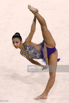 Sie Yan Koi of Malaysia competes during the Rhythmic Gymnastics on. Amazing Gymnastics, Gymnastics Pictures, Artistic Gymnastics, Gymnastics Girls, Dance Pictures, Girl Pictures, Rhythmic Gymnastics, Gymnastics Flexibility, Dance Photography Poses