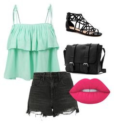 """Untitled #11"" by leilaniconklin on Polyvore featuring LE3NO, Alexander Wang and Lime Crime"