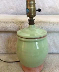 Rare Rowe Pottery Works Green Terra-cotta Pottery Lamp Handcrafted | eBay Glazed Ceramic, Terra Cotta, My Ebay, It Works, Pottery, Ceramics, Green, Terracotta, Ceramica