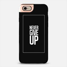 Never Give Up Metaluxe | @casetify