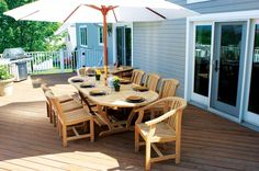 Mese din lemn pentru terase