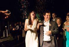North Carolina photographer Bridget McEnaney had me at rainbow sprinkles. I'll take this over sparklers any wedding day.