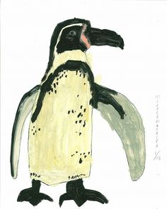 miroco machiko Penguin Art, Art Brut, Bird Illustration, Naive Art, Japanese Artists, Outsider Art, Fauna, Animal Paintings, Bird Art