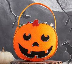 Pumpkin Felt Tote...