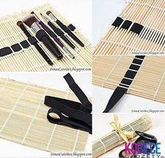 Great idea. Make-up brush holder. DIY