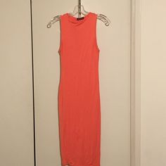 Fashion Nova orange sleeveless fitted dress Fashion Nova thick fitted orange dress Fashion Nova Dresses Midi