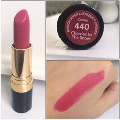 10 Best Pink Lipsticks - 10 iconic pink lipstick shades to add to your beauty collection. Have you tired the most famous sha - Revlon Lipstick Swatches, Makeup Swatches, Makeup Dupes, Makeup Cosmetics, Drugstore Lipstick, Matte Lipstick, Drugstore Foundation, Beauty Dupes, Makeup Products