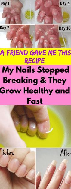 A Friend Gave Me This Recipe and My Nails Stopped Breaking and They Grow Healthy and Fast - seeking habit