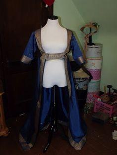 Sari Open Robe Regency Gown. The Bohemian Belle: September 2012