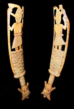 "Yoruba Ivory ceremonial Sword (Udamalore) - GDC.019  Origin: Nigeria  Circa: 1800 AD to 1920 AD   Dimensions: 15.25"" (38.7cm) high   Collection: African Art  Medium: Ivory    $28,000.00   Location: United States"