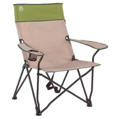 Coleman Sling Chair in Light Granite and Green