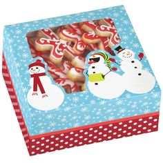 Snowman Christmas Cookie Boxes 415-1819