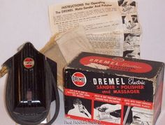 Vintage Dremel Electric Sander Polisher Massager Model A Works 1950s w Box | eBay $34.95. It's even marketed as a massager!