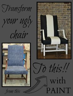 Do you have an ugly chair? Well you don't have to. I'm going to show you how to paint fabric with Velvet Finishes! It's easy and the results are amazing!