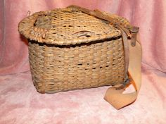 Handmade Fishing Creel Basket.......... kosmickatie
