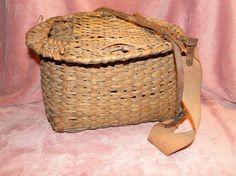 Handmade Fishing Creel Basket.......... kosmickatie