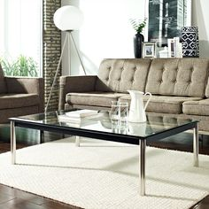 Le Corbusier Style LC10 Rectangle Coffee Table