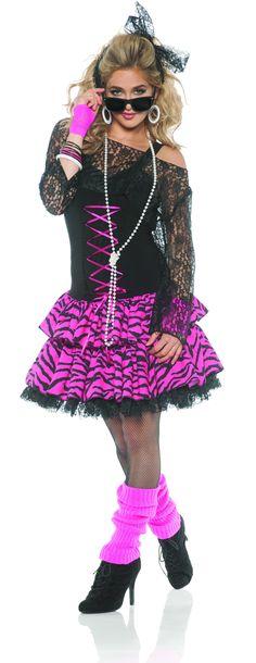 80 S Punk Kit femmes robe fantaisie 1980 S gothique Rocker Adultes Costume Set Accessoire