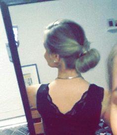 Hår opsat hairdo ladylike