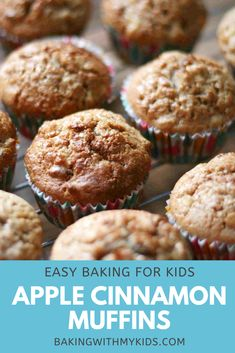 These delicious apple cinnamon muffins are beautifully soft and moist on the inside but still crispy on the outside. The perfect treat for a cold autumn or winter's day. #Apple Muffins #Easy #Recipes #Cinnamon #BakingWithKids #AutumnBaking #Homemade