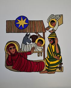 The Nativity by artist Gisele Bauche Saskatoon, Sk, Canada