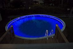 Swimming pool RGB LED Strips Led Exterior Lighting, Deck Lighting, Strip Lighting, Swimming Pools Backyard, Pool Decks, Pool Landscaping, Swimming Pool Accessories, Barbie Dream House, Pool Houses