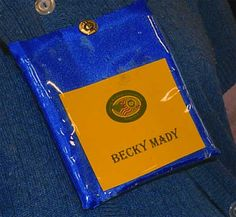 """One club saved enough """"neck wallets"""" from Ruritan National conventions to have one for each member as a name badge for club meetings."""