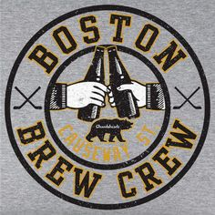 Boston Brew Crew T-Shirt by Chowdaheadz. Wear this to your next summer pahty!