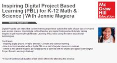 Digital Projects can extend the student learning experience outside the walls of your classroom and even across oceans. Join Google certified teacher and Apple Distinguished Educator Jennie Magiera to get inspiring Project Based Learning (PBL) ideas using the latest educational technologies.   1 hour of Continuing Education credit will be offered for attending this webinar.