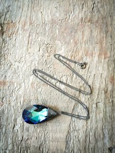 Bermuda Blue #Crystal#Necklace / #Swarovski #Jewelry / by DevikaBox, $30.00