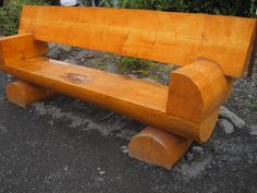 I love this log bench.