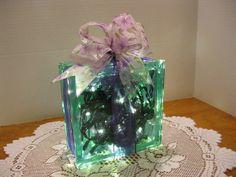 Lilac  Floral & Purple Ribbon on upright GREEN by Originalsbysuej, $25.00