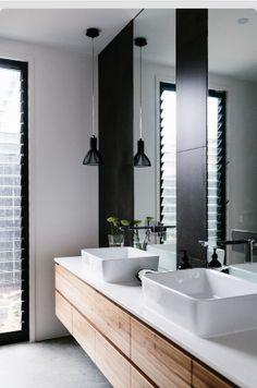 Charcoal & white bathroom