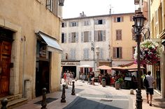 A corner of the old town in Antibes, France. Antibes France, Juan Les Pins, Luxury Holidays, French Riviera, Old Town, Cannes, Colorado, Old Things, Street View