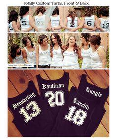 6 Bridesmaid Tank Tops, Set of 6, Bridal Party Tank Tops, Wedding Party Shirts, Custom Bridal Tanks on Etsy, $108.00