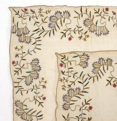 Lot of two Embroidered Covers from Ottoman Empire. (item #1189335, detailed views)